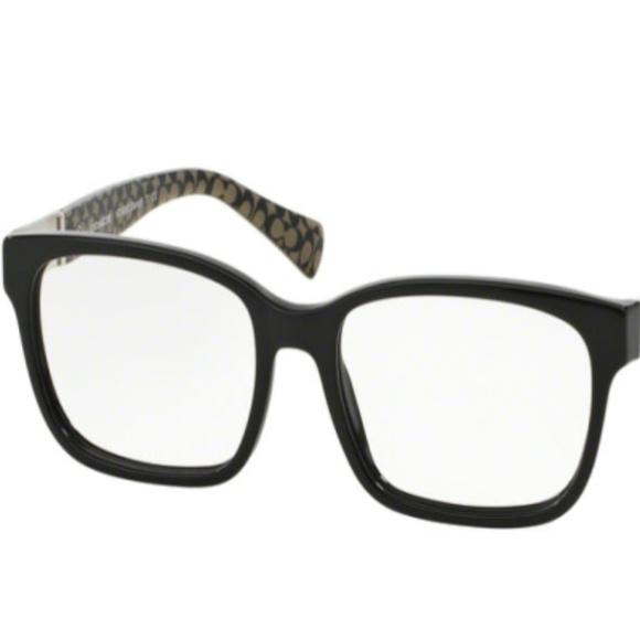 e9100cac0a NWT Coach HC 6062 5261 Black Eyeglasses